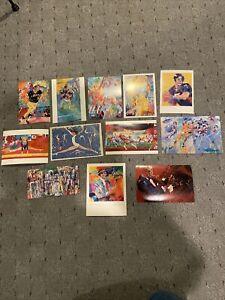 Leroy Neiman Lot Art Postcards Baseball football basketball boxing Frank Sinatra