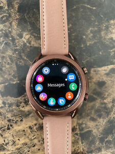Samsung Galaxy Watch3 SM-R855 41mm Stainless Steel Case with Leather Strap -...