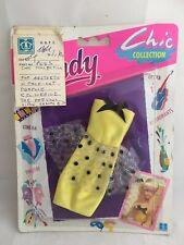 Vintage Sindy Prototype Sample Hasbro CHIC COLLECTION BLACK & YELLOW DRESS 1990s