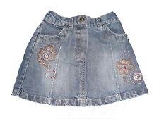 C & A toller Jeans Rock Gr. 92 mit Blumenstickereien vorn !