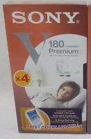 1 Cassettes vidéo VHS SONY Premium 180 NEUVE scellée E-180VH