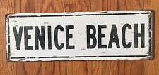 Venice Beach Blvd Rose California CA Surf Vintage Poster Metal Sign Home Decor