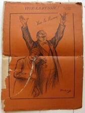 Vive la Russie album 14 dessins par Heidbrinck c1905 caricature politique satire