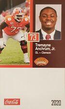 2020 Tremayne Anchrum Jr Senior Sr Bowl Rookie Rc Card - Clemson - L A Rams