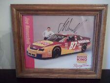 Joe Nemechek Burger King Nascar Signed 8X10 Photo In Wood Frame Monte Carlo