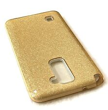 LG Stylo 2 Plus LS775 & MS550 - HARD TPU RUBBER CASE COVER GOLD GLITTERS BLING