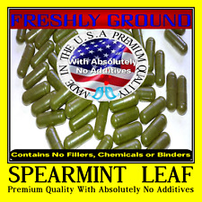 SPEARMINT LEAF With Absolutely No Additives High Potency 100 Vegetable Capsules
