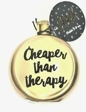 New Gold Cheaper Than Therapy Pocket Sized Flask - 3 oz - Nwt