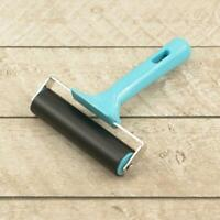 Couture Creations Brayer Roller (10cm width Deluxe soft grip handle) Blue
