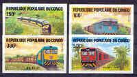 Eisenbahn, Railways - Kongo - 963-966 B ** MNH 1984