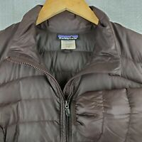 PATAGONIA Size Small Womens Fiona 600 Down Filled Jacket Coat Brown Parka