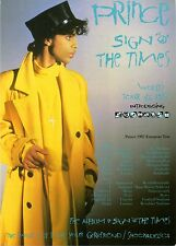 """PRINCE • SIGN """"O"""" THE TIMES Promo Flyer + 3 Photos 1998 & free mid-'90s LIVE CD!"""