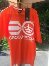 Brand New Mens Crosshatch Orange Cotton Short Sleeve T-Shirt Large