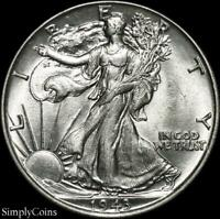 1943 Walking Liberty Silver Half Dollar ~ AU About Uncirculated ~ US Coin MQ