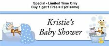 Personalised Party, Baby Shower for boy, Occasion, Banner - Blue Boy Theme