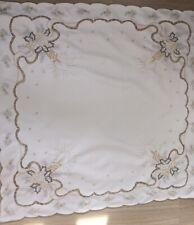 Vintage Polyester German Tablecloth Centerpiece