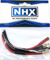 "NHX 4.0mm Bullets Adapter Cable 14 AWG 4"" Silicone Wire Male / Female 2 Pair"