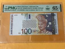 RM100 11TH SERIES ZETY REPLACEMENT ZD 0085008 PMG 65EPQ GEM UNC