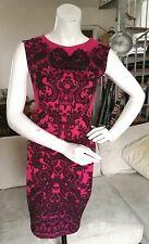 Jane Norman lace effect print stretchy dress with black rhinestones UK size 10