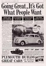 1938  Vintage ad  Plymouth Automobiles Pick Up Coupe Sedans Man Cave Art Cool!