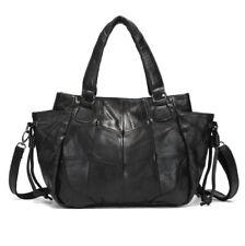 New Black Women Genuine Leather Sheepskin Handbag Shoulder Tote Messenger Bag