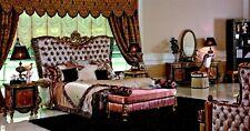 Schlafzimmer Komplett Set  Kommode Bank Konsole Bett Garnitur Bett Betten Barock