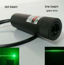 real 200mw 532nm green Laser module with Focusing / burning laser dot+line