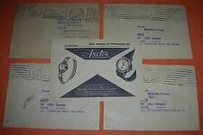 Arctos Uhren Werbung 5 Briefe Berlin Charlottenburg Rohrpost Rheydt 1954 + 1956