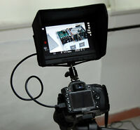 """7"""" Canon 5D Mark III HDMI Monitor Hot-Shoe Battery 5D3 DSLR Samsung LED Outdoor"""