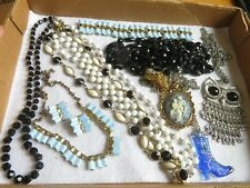 Vintage Jewelry Lot Necklace Bracelet Earrings Thermoset & More (517B)