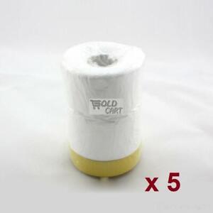Pre-taped Masking 5 Rolls 55cm x 30m film Roll PVC Plastic Dip spray rubber p...