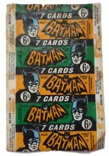 A&BC 1966 Batman 6D 7 Cards Black Bat Bubble Gum Card Wax Wrapper