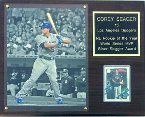 Corey Seager Los Angeles Dodgers 12x15 Cherry-Finished Player Plaque
