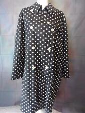 Ralph Lauren Polo womens plus sz 3X Black White Polka Dot trench rain coat long