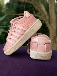 K SWISS pretty in pink Classic Sneakers Athletic Toddler Girls Shoes Sz 3 👣b14