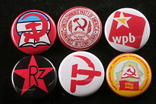 World Communist Party Button Badge Lot CPUSA Belgium Belarus Syria Germany 6
