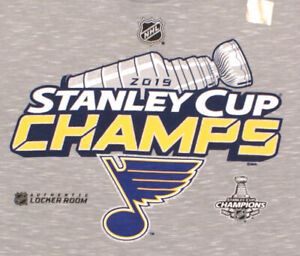 Fanatics St. Louis Blues 2019 NHL Stanley Cup Champs Locker Room T-Shirt, Medium