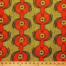 African Print Fabric 100% Cotton 44'' wide sold by the yard Peacock (90107-2)