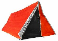 Emergency Outdoor Tube Tent with Steel Tent Pegs Backpacking Hiking Vehicle Auto