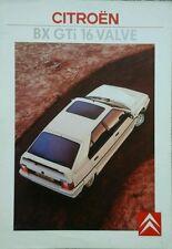 Citroen BX GTi 16 Valve Brochure  1987