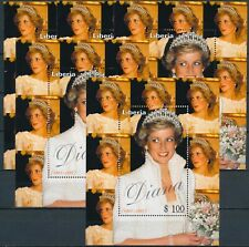 [364] Liberia Lady Diana 5x good Sheet very fine MNH