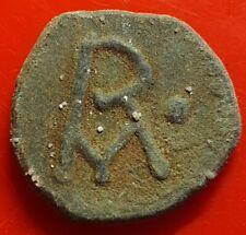 Merovingian Arelatum bronze denarius