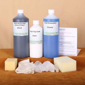 Vinyl Colour Restorer Kit /Dye Stain Pigment Paint 1lt large kit Car/sofa