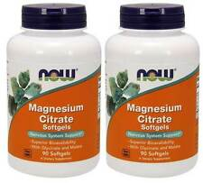2-Pack Of Magnesium Citrate 134 mg 90 Sgels, Now Foods, Superior Bioavailability