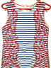 BODEN Dress-Cotton Blue White Red Striped Sleeveless Sheath Lined-Size 12L