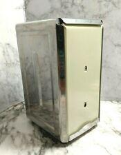 Vintage Double Sided Tall Napkin Holder Dispenser Restaurant Retro Spring Loaded