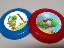 12 YOSHI'S WOOLLY WORLD mini frisbee birthday party favor Wii U NINTENDO MARIO