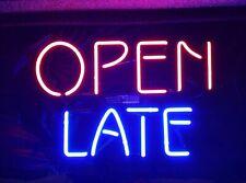 "14""x10""Open Late Neon Sign Light Shop Bistro Wall Hanging Nightlight Artwork"