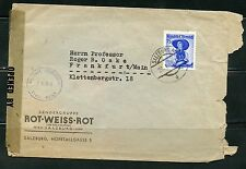 AUSTRIA 1949 COVER TO FRANKFURT GERMANY MILITARY CENSORED AS SHOWN