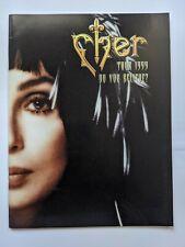 Cher Tour 1999 Do You Believe? Tour Book / Program + Folded Believe Promo Poster